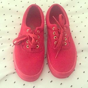 All-over Red Vans